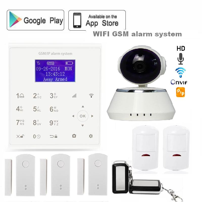 Spanish 433mhz Wireless sms GPRS 2.4G wifi GSM alarm system home security Android/IOS APP control with Yoosee ip camera wi-fi цена и фото