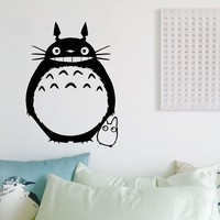 Free Shipping Japanese Wall Stickers Wholesale And Retail Wall Decoration PVC Material Decals My Neighbor Totoro