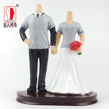 Wedding gift custom wedding cake topper resin body / creative gifts / clay dolls / custom / clay doll body SR226