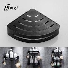 цены 3StoreSpace Aluminum Bathroom Shelves Black Bathroom Accessories Shower Corner Shelf Shampoo Storage Rack Bathroom Basket Holder