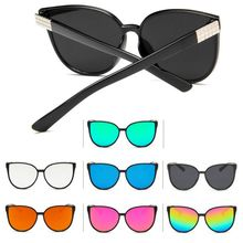 New Fashion Big Box Frame Sunglasses Trend Colorful Reflective Eyewear Versatile Sun Glasses Frog Mirror For Men Women