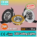 "Free Shipping 4pcs/Lot 1W High Power LED downlights LED Chip ""Epistar"" 100~110 lm/W CE & RoHS Approval 2 Years Warranty"