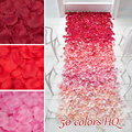 Wholesale Promotion 1000pcs Mixed Colors Silk Rose Petals Artificial Flowers for Wedding Decoration Mariage Party Rose Flower