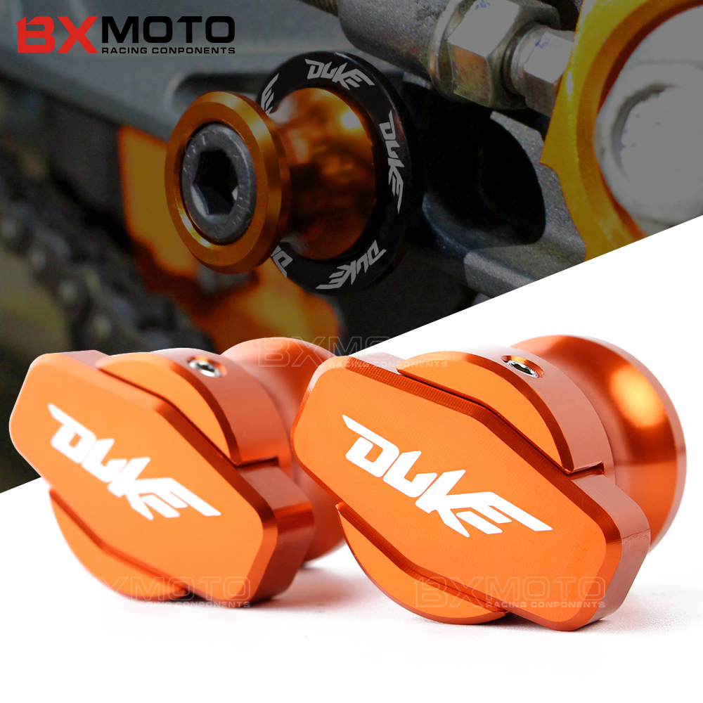 M10 CNC motorcycle accessories Aluminum Swingarm Spools slider stand screws For KTM DUKE 125 200 390 990 RC 390 125 200 RC390 for ktm logo 125 200 390 690 duke rc 200 390 motorcycle accessories cnc engine oil filter cover cap