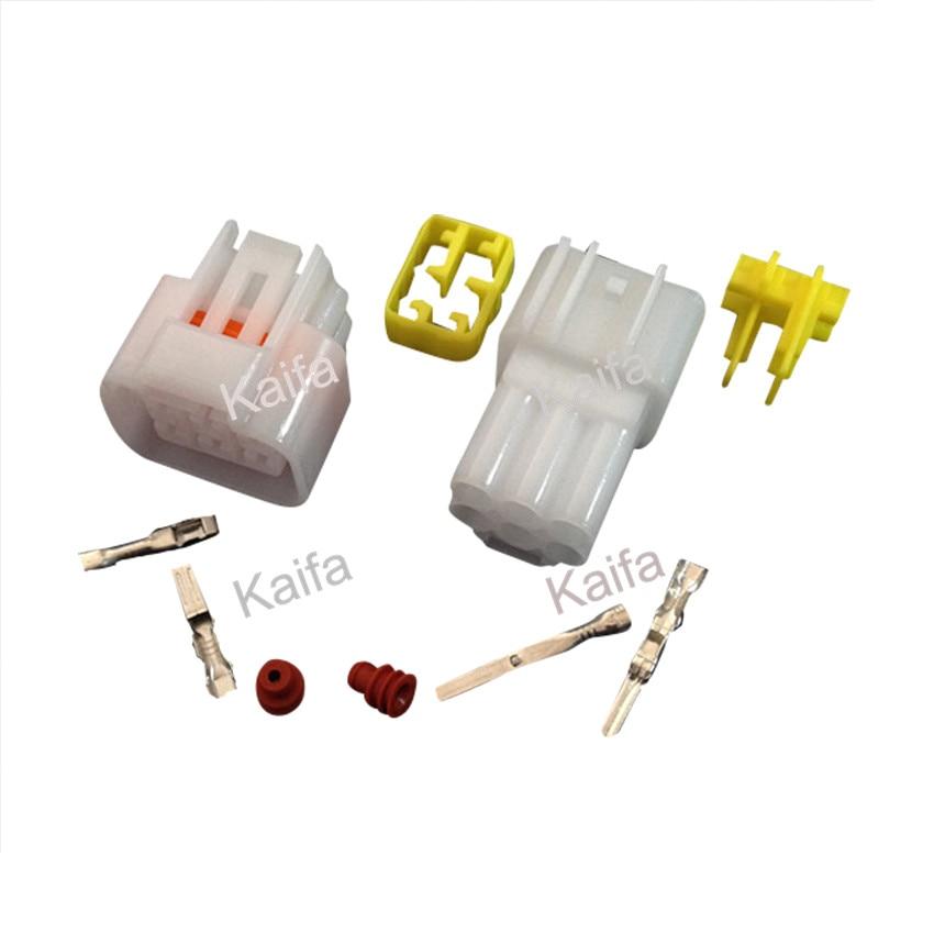 Yazaki 10 sets Kit 6 Pin Way Waterproof Electrical Wire Connector ...