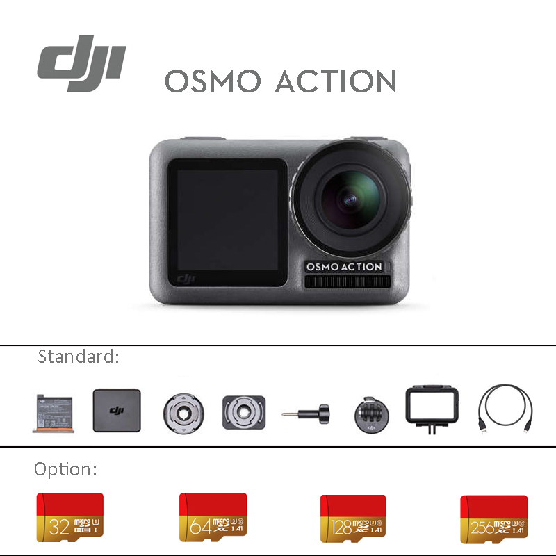 DJI Osmo Action Sports camera dual screens and RockSteady stabilization Waterproof 8xSlow Motion original brand new