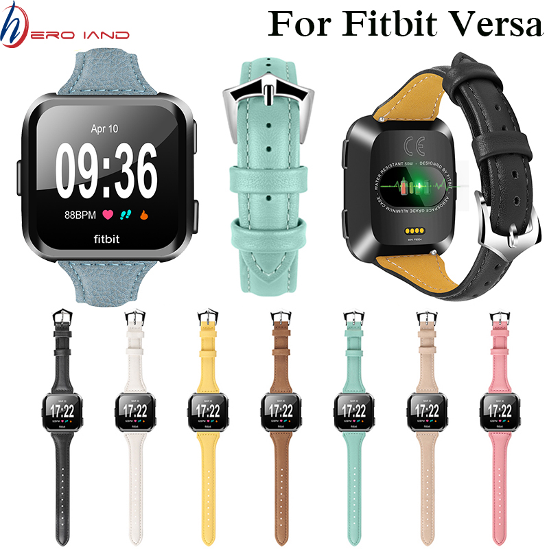 Watch bracelet belt for fitbit versa watchbands leather strap watch band watch accessories wristband for fitbit versa watch