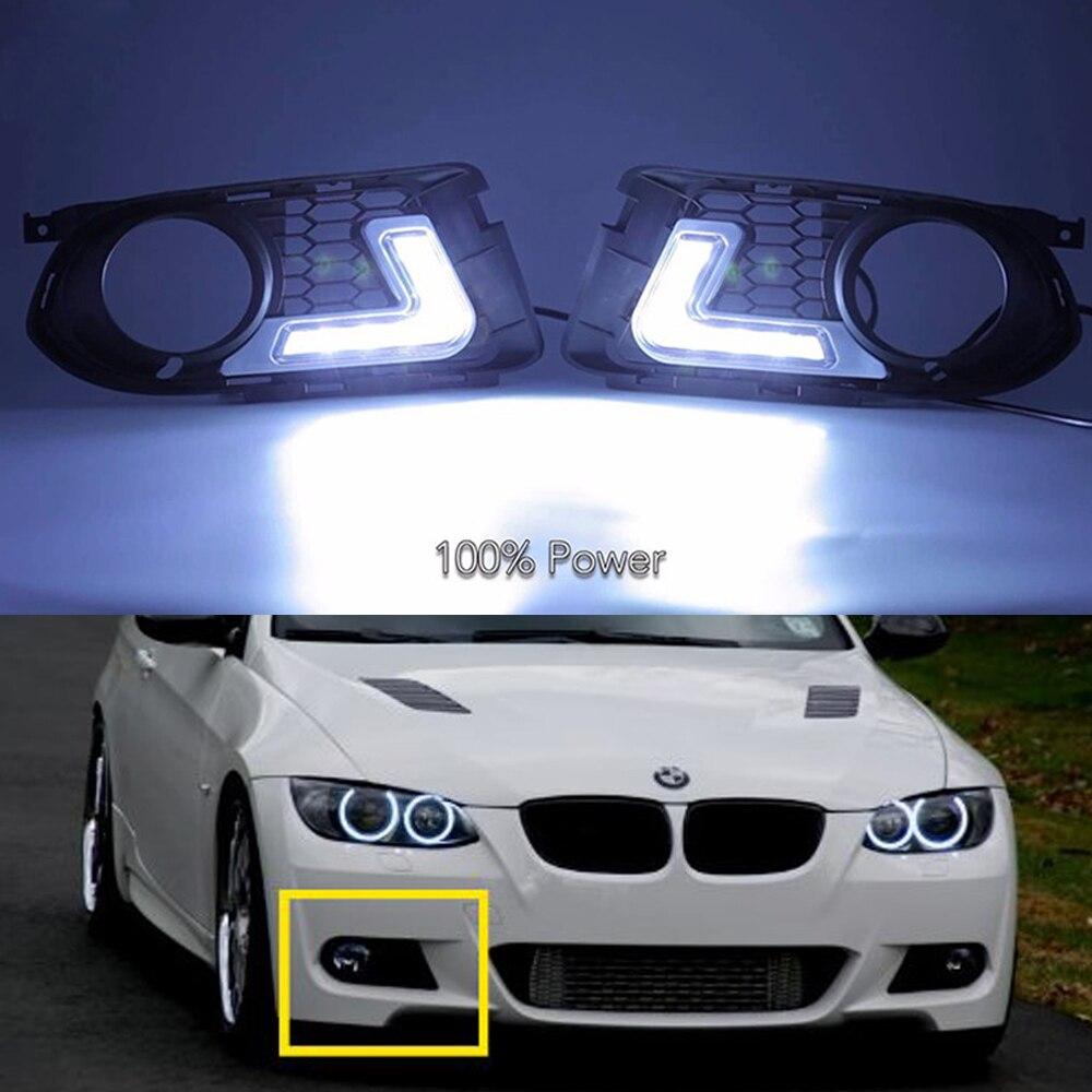 LED DRL light 12V for BMW E92 E93 DAYTIME RUNNING LIGHT, 7000K auto front bumper led fog lamps for BMW 3 series E92M Tech brand new led daytime running lights for bmw e90 e91 3 series 2009 2012 m tech m high power front bumper fog daylights drl
