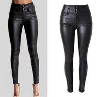 Skinny Women PU Leather Pants High Waist pencil Pants Trousers Women's Clothing pants&capris pantalones mujer