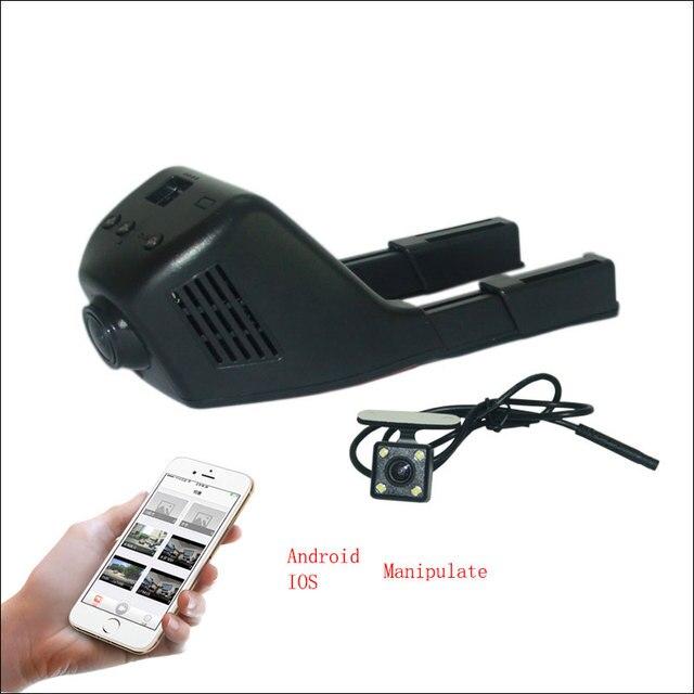 APP Control Car Wifi DVR For Subaru Outback Dual Camera lens Dash Cam Car Black Box Novatek 96658 Camcorder + Motion Detection