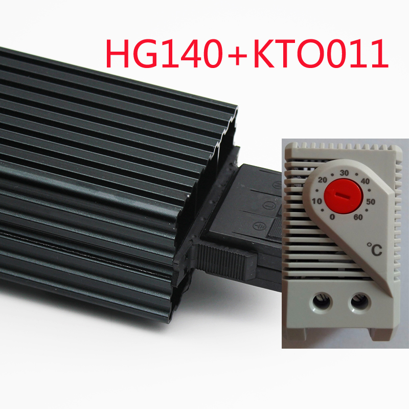 HG140 45W Industrial Cabinet Heater 35mm Din Rail Type fan Heater PTC Sermiconductor Heater work with Thermostat in Temperature Instruments from Tools