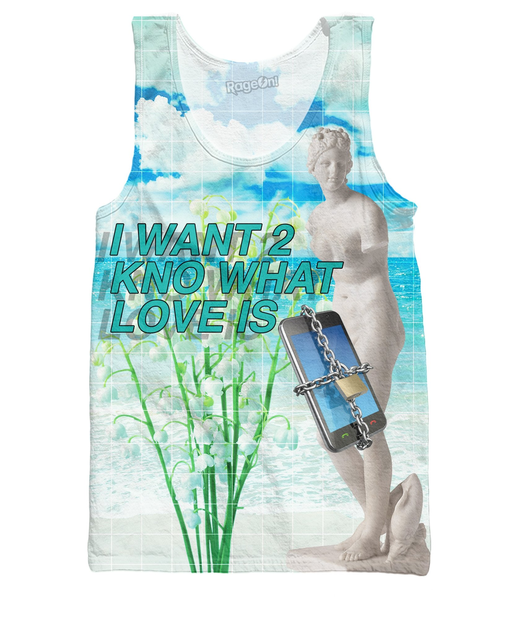 I Want 2 Kno What Love Is   Tank     Top   3D Print Funny Graphic Sleeveless Shirt Unisex Fashion Vest Singlets Jersey Camisetas