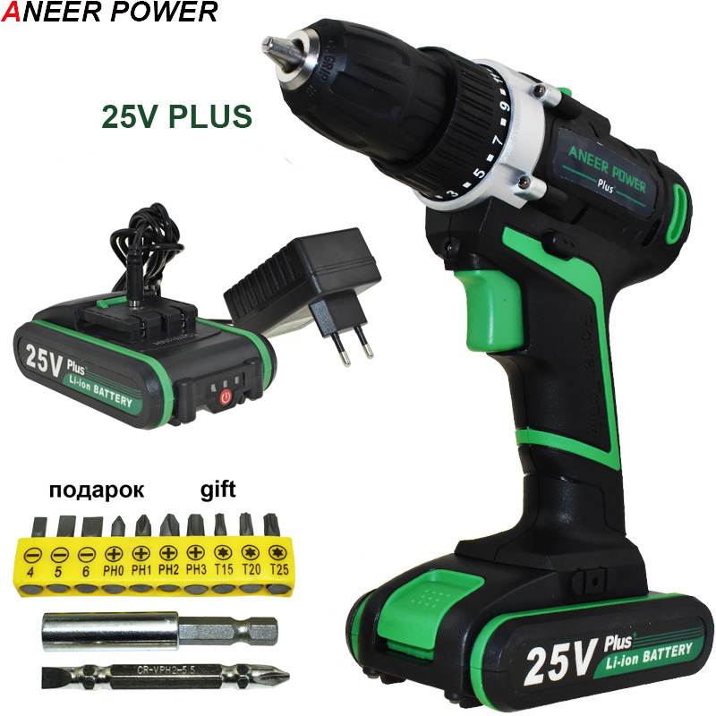 25v Plus Drill Electric Drill Electric Batteries Screwdriver Cordless Drill Power Tools Drilling Mini Cordless Screwdriver 25v cordless electric screwdriver