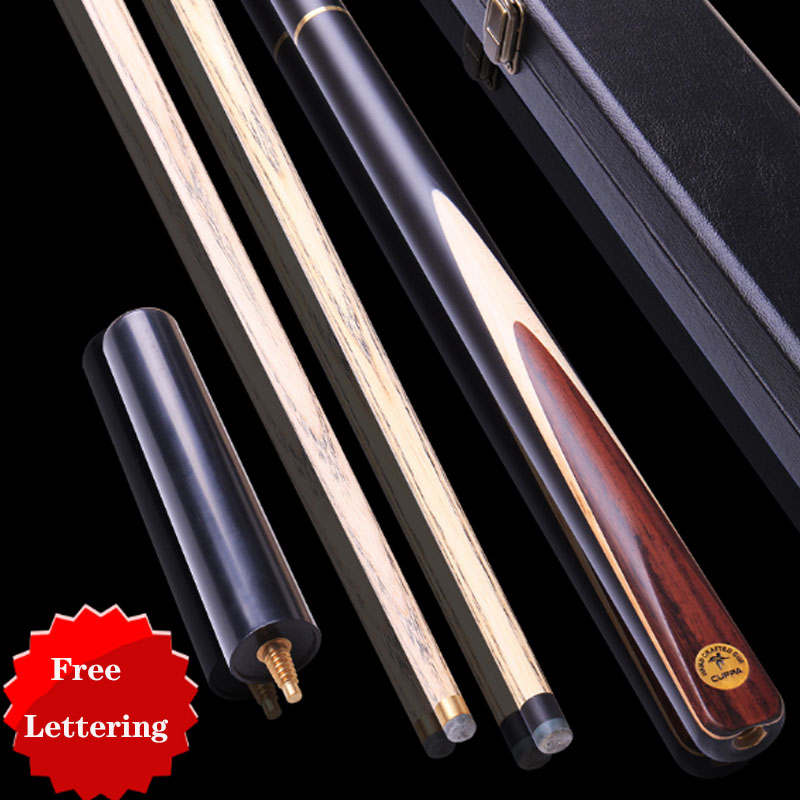 NEW Cuppa 3 4 Snooker Cues Stick 9 8mm 11 5mm Tip with Snooker Cue Case