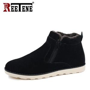 Image 3 - REETENE Winter Boots Men 2018 Warm Snow Boots Men Casual Snow Boots Men Plush Zipper Winter Shoes Men Slip On Fur Male Shoes
