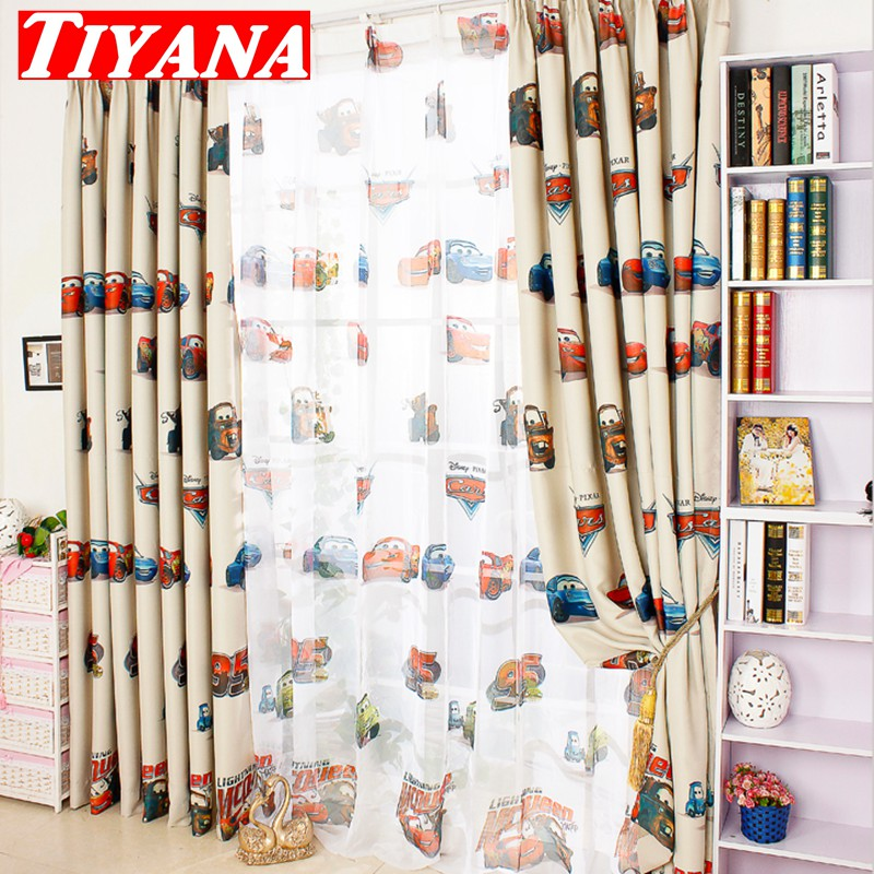 Cartoon Trees Curtains For Kids Boys Bedroom Blinds Linen: Window Curtain For Living Room Screening Boys Girls