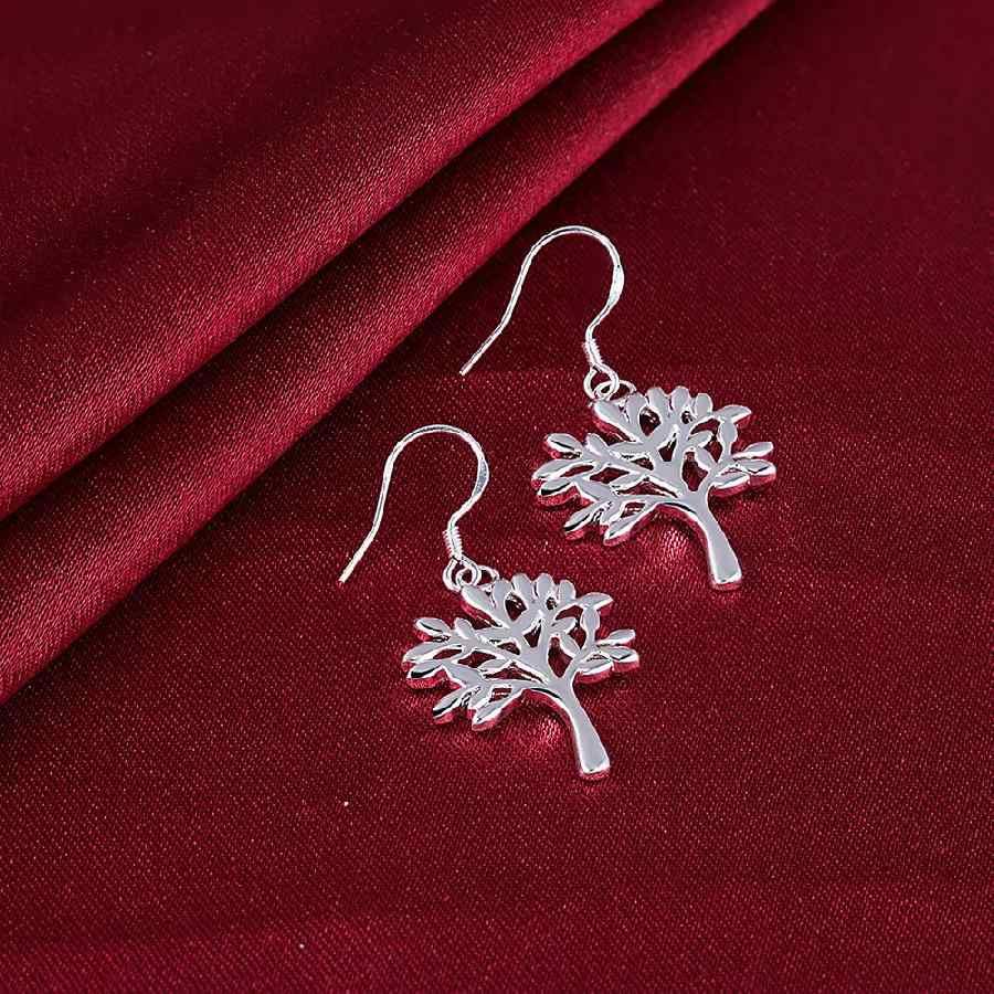 แฟชั่นอัญมณี charms เงินต่างหู tree of life drop ต่างหู kupe joyas
