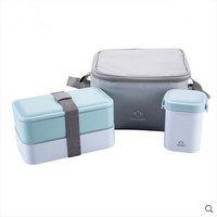 High Quality Japanese Bento Lunch Box/Water Soup Mug & Insulated Lunch Tote Bag Food Container Lunchbox Plastic Microwave OK