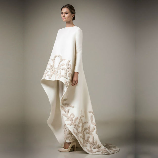Newest Turkish Women Clothing Islamic Muslim Dresses With Pants Arabic Evening  Gown Long Sleeve Dubai Kaftan Evening Dress 2017 a6d2be823cb5