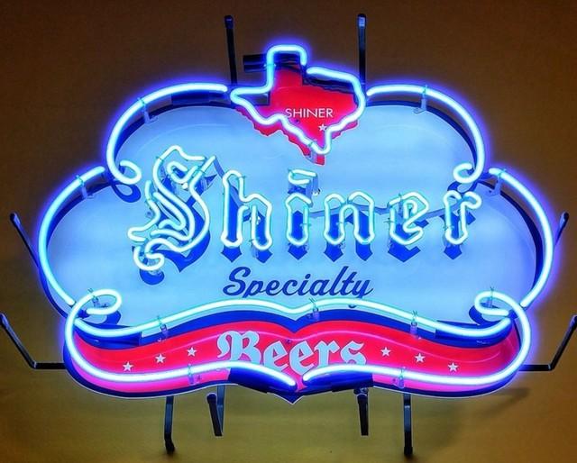 Custom Shiner Beers Texas Speciality Neon Light Sign Beer Bar
