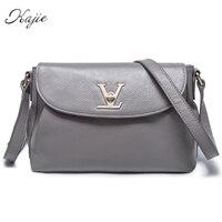 Kajie Women Luxury Messenger Bags Designer New Fashion Genuine Leather Handbag Shoulder Bag Small Tote Satchel