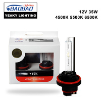 2pcs Top Quality YEAKY Ultra Bright 35W 4500k 5500K 6500K HID Bulb HID Xenon Conversion Bulb