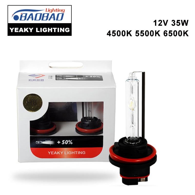 все цены на  Top Quality original YEAKY Ultra Bright HID car headlight bulb 35W 4500K 5500K 6500K H1H3H7H8H11 9005 9006 D series car styling  онлайн