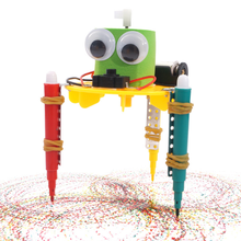 Early Learning DIY Doodle Robot Technology Small Inventions Educational Toys for Kids Primary and Secondary Science Experiment(China)