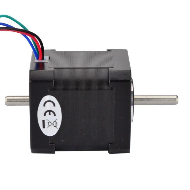 Dual Shaft Nema 17 Stepper Motor 1.68A 45Ncm/64oz.in Nema17 Step 42 Motor 4-lead for  DIY CNC 3D Printer