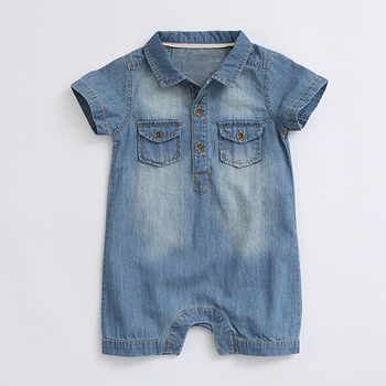 Sodawn Summer New Arrival Denium Baby Boys Clothing  Fashion Design Lovely Romper Comfortable Bebe Girls Clothes 1