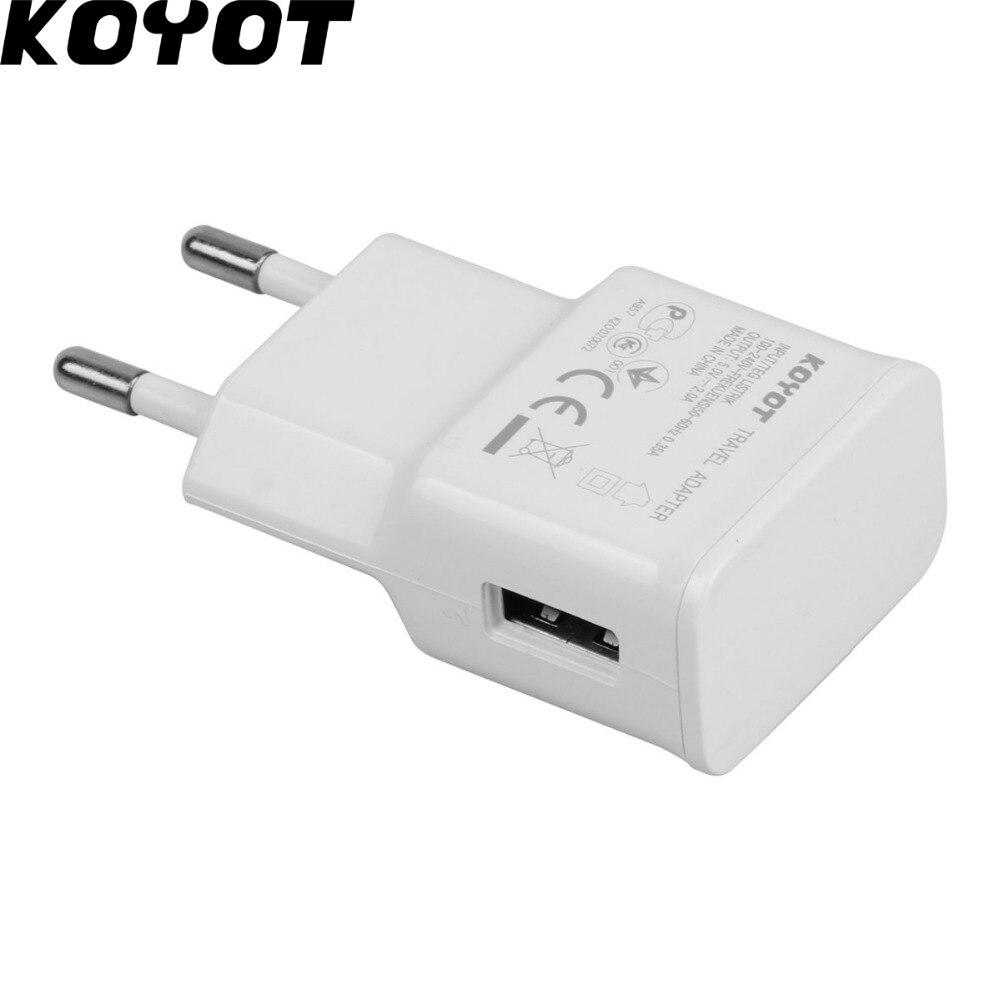 Koyot ЕС Plug адаптер 5 В 2A стены USB EU Зарядное устройство зарядное устройство для мобильного телефона для <font><b>Galaxy</b></font> <font><b>S5</b></font> Note4 N9000 USB Зарядное устройство Прям&#8230;