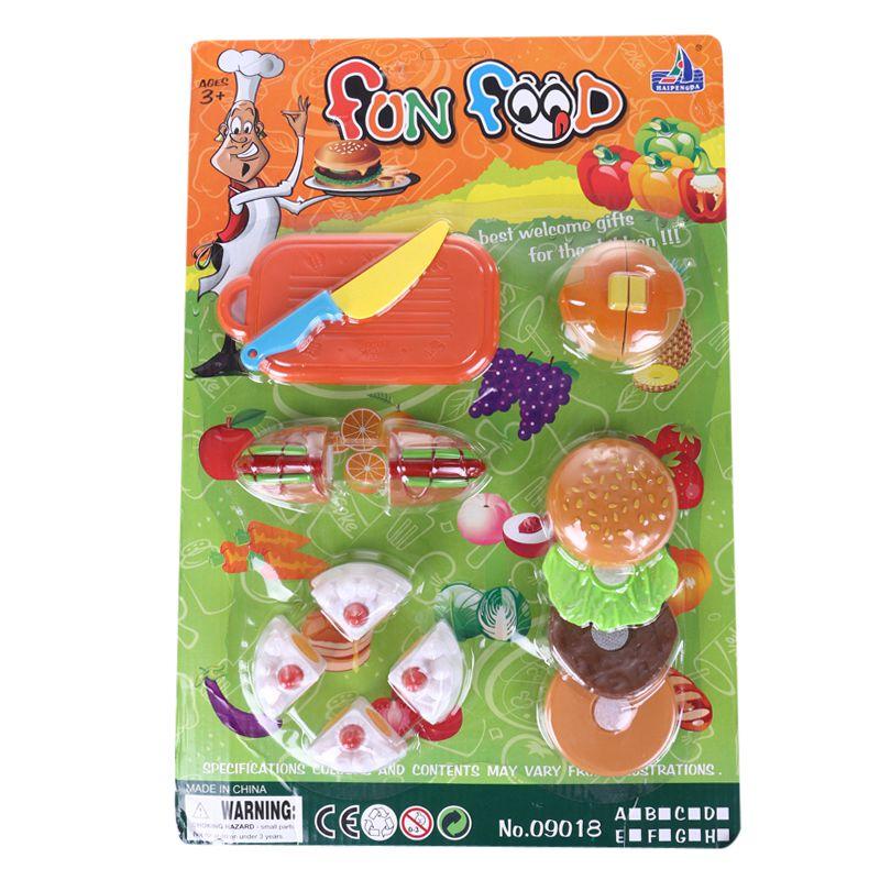 Pleasing Shujin Diy Pretend Play Fruit Cutting Birthday Cake Kitchen Food Personalised Birthday Cards Veneteletsinfo
