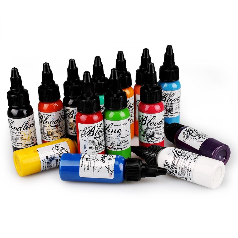 Tattoo Artist Ink Set 14 Pack 1 Oz(30ML) Permanent  Microblading Tattoo PigmentTattoo Artist Ink Set 14 Pack 1 Oz(30ML) Permanent  Microblading Tattoo Pigment