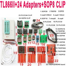 цены на V8.3 XGecu TL866II tl866 ii Plus programmer+24 adapters socket+SOP8 clip 1.8V nand flash 24 93 25 eprom avr mcu Bios  program  в интернет-магазинах