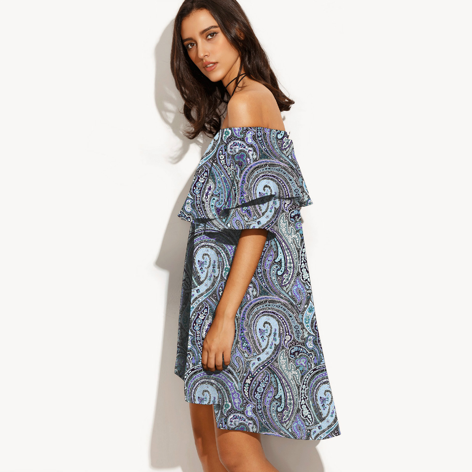 ab21e69783173 Hoffen Hot Sale Summer Dress Slash Neck Pineapple Print Party Dresses Off  Shoulder Loose Beach Dresses Vestidos Mujer 10 Colors-in Dresses from  Women's ...