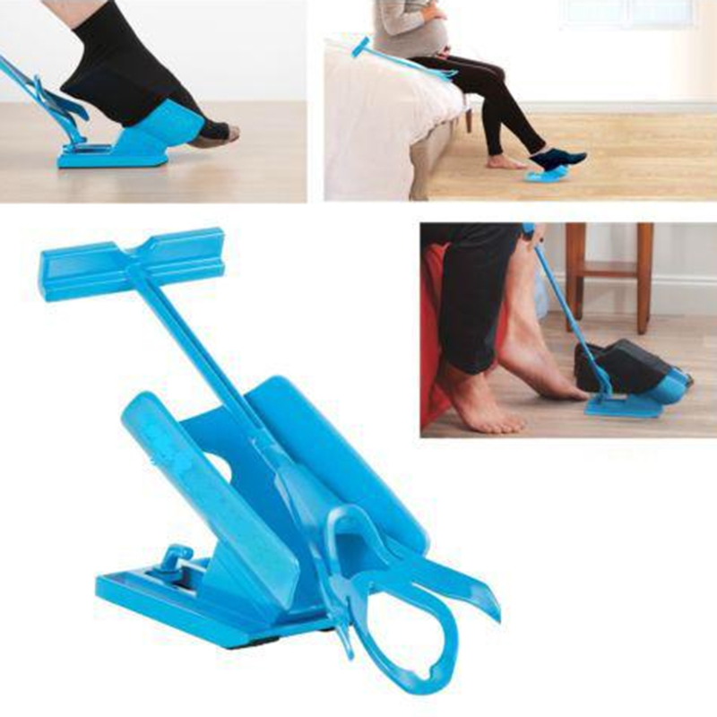 Pregnant Elder Sock Wear Shoe Horn Device Slider Easy on off Sock Aid Kit Shoe Horn Device No Bending Stretching Straining Y0191 цены онлайн