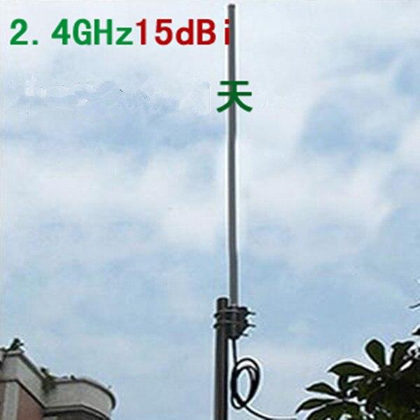 OSHINVOY 2 4g 15dBi omni fiberglass antenna SMA male Wifi 2 4G roof fiberglass base antenna