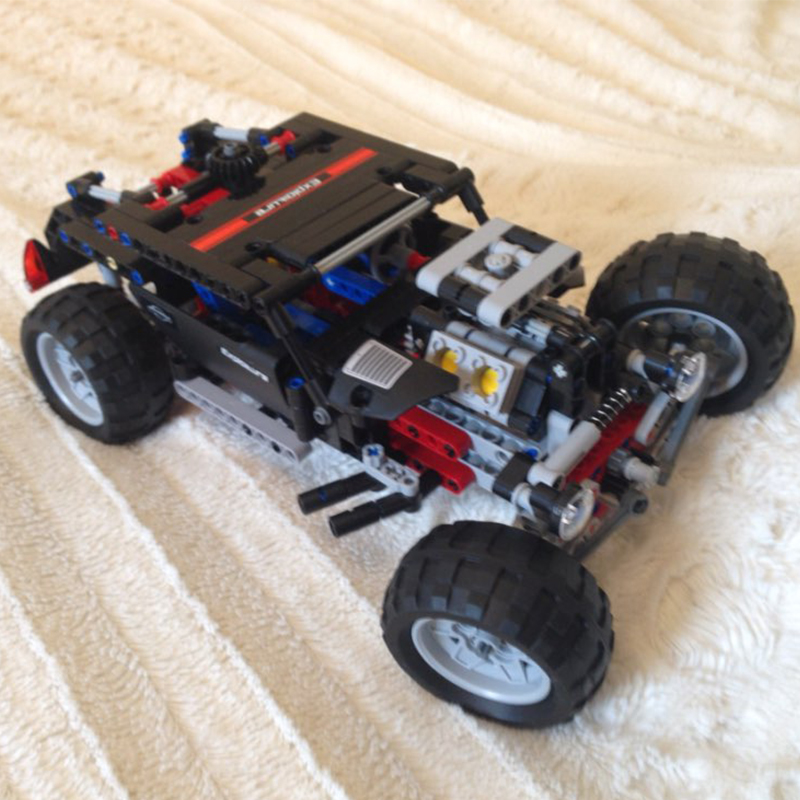 Model building kits compatible with lego city Technic Hummer SUV 3D blocks Educational model building toys hobbies for children