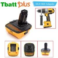 Tbattplus DCA1820 Battery Adapter for Dewalt 18V Tool Convert Dewalt 20V Lithium Ion Battery for DC9096 DC9098 DE9096 18 Volt