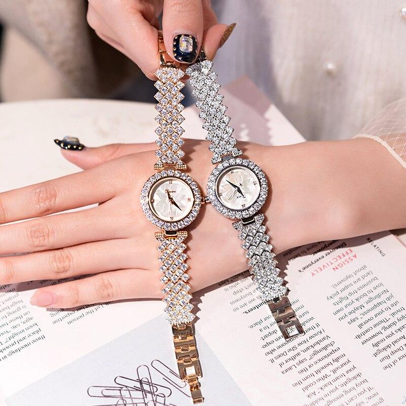 New 2019 Luxury Women Dress Bracelet Watch Fashion Ladies Rhinestone watch Diamond Jewelry Mashali Wristwatches Reloj