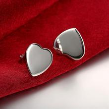 Love Heart Clasp Push Back Stud Earrings Women Cheap Cuff Ear Punk Fashion Nereides Jewelry Piercing