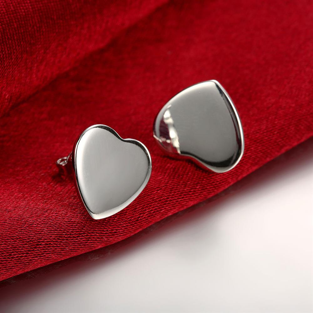Love Heart Clasp Push Back Stud Earrings Women Cheap Cuff Ear Punk font b Fashion b