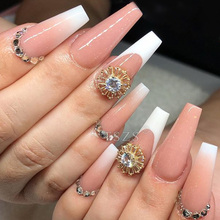 Transparent long style flat false nail tip