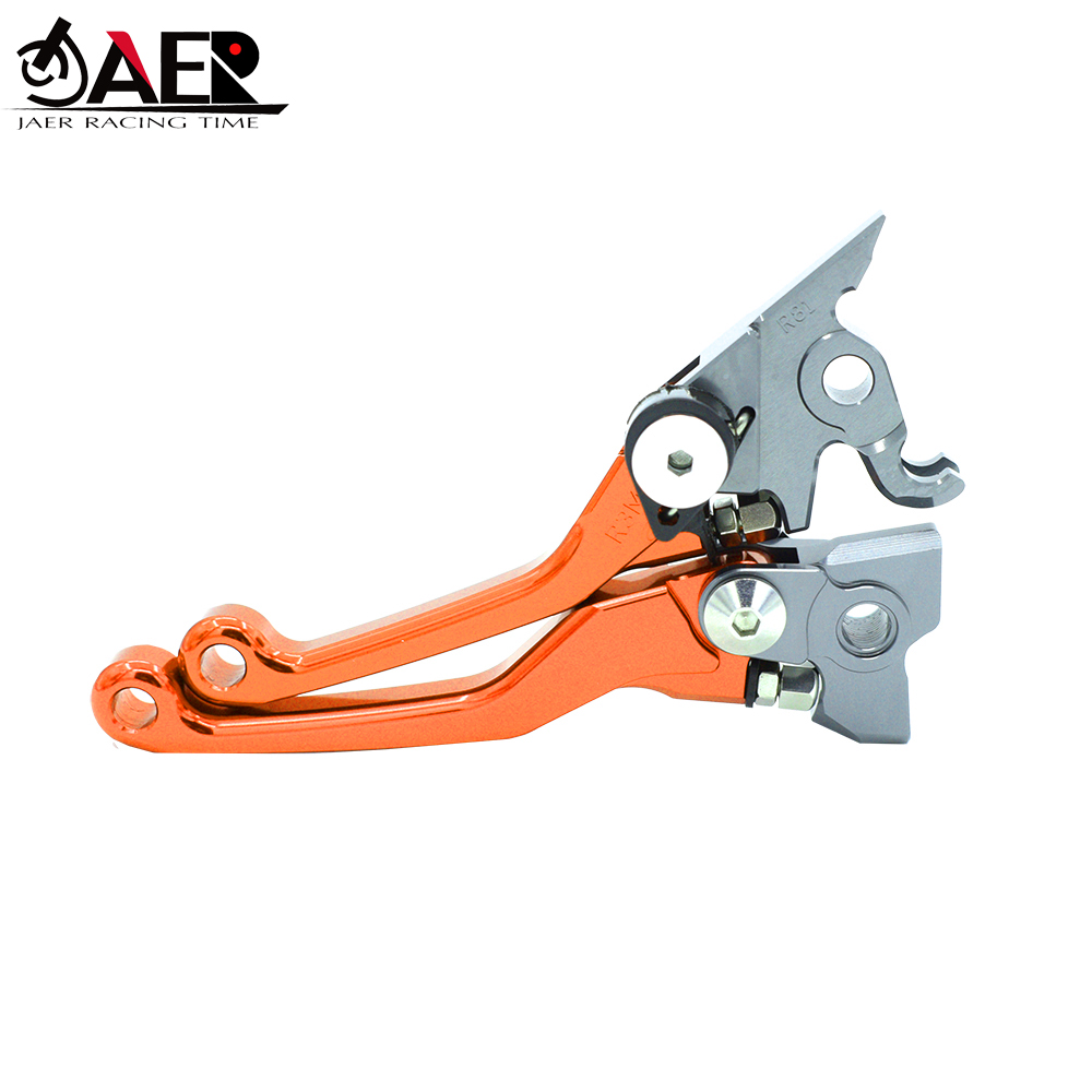 JAER CNC Pivot Foldable Clutch Brake Lever For KTM SX EXC XCW 125 150 200 2014 2015 2016-in Levers, Ropes & Cables from Automobiles & Motorcycles