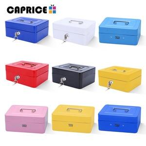 Image 1 - Caja fuerte de seguridad de banco, hucha, depósito, caja de dinero, caja de ahorro, contraseña, Keylock, cajas de maquillaje secretas, decoraciones para el hogar, tamaño M TH