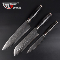 GHL инструменты 3 шт. набор кухонный нож Дамаск VG10 комплект японских ножей нож
