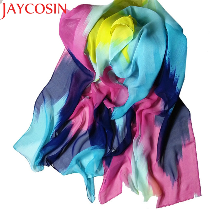 JAYCOSIN Marketing 2015 Women Fashion Chinese Ink Style Wrap Lady Shawl Chiffon Scarf Scarves Aug14 Drop Shipping