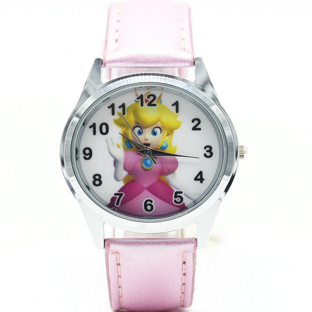 2018 super mario Peach Princess watch Quartz Kids Sports fashion cartoon Watch W