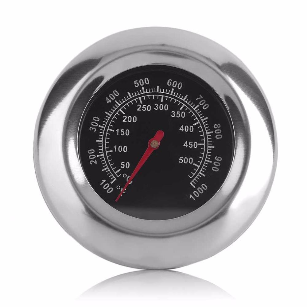 Stainless Steel Barbecue BBQ Grill Thermometer Temp Gauge ...