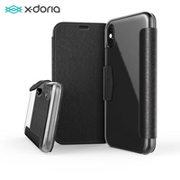 X Doria Defense Flip Wallet Case For iPhone X Luxury PU Leather Engage Folio Phone Case For iPhone X Cover Built in Card Slot